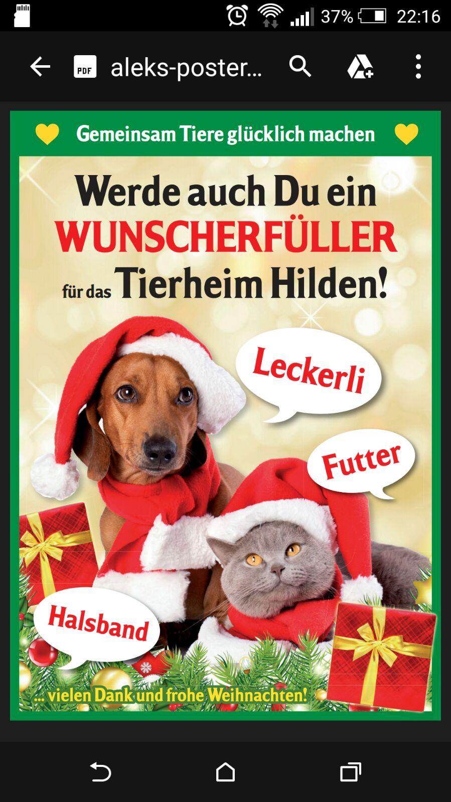 23.12.2015 – Spendenaktionen und Weihnachtswünsche - Tierheim Hilden ...